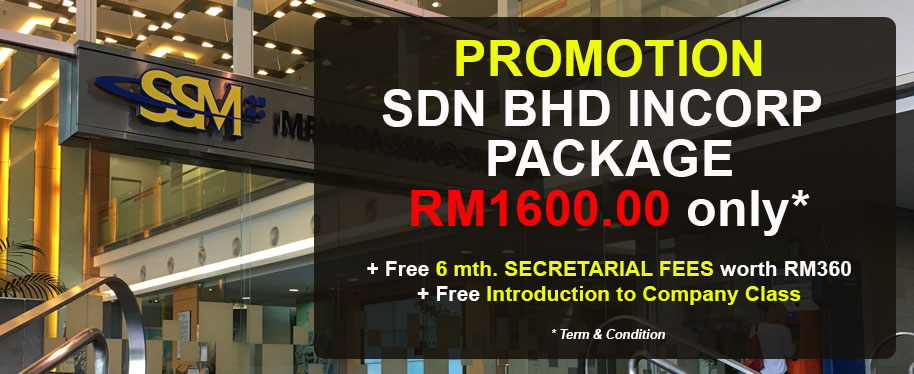 Sdn bhd Incorporation Package RM1600